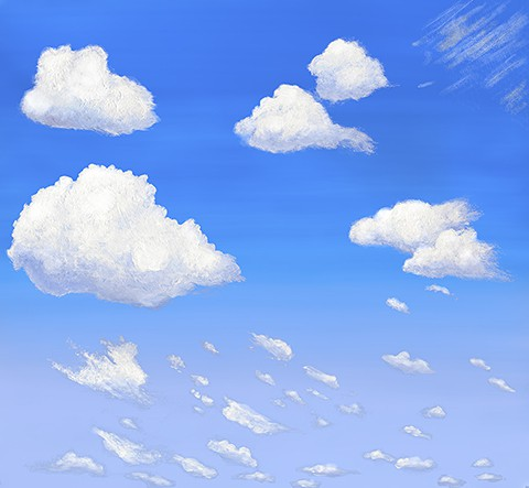 Casart coverings Cumulus Clouds Daylight temporary wallpaper_casartblog