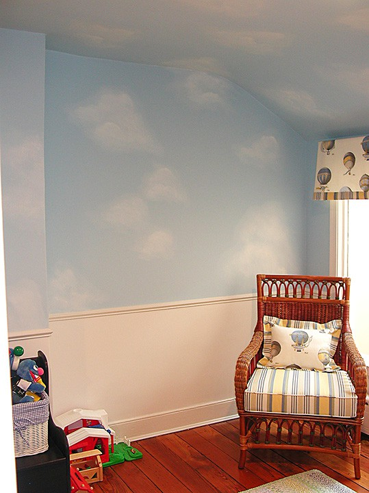 Casart Client Example of Clouds on ceiling and walls