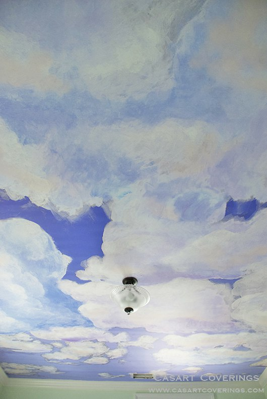 Casart coverings Customer Custom Ceiling Clouds 2 as temporary wallpaper