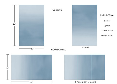 Casart coverings Gradient visual explanation temporary wallpaper