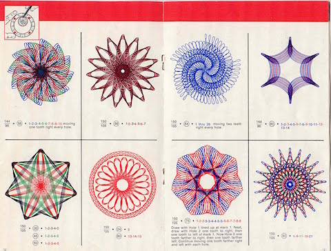 Original Spirograph instruction booklet on casartblog