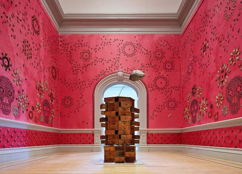 Casart coverings features 1_Wonder_Bug-covered-walls_Smithsonian-Renwick-Gallery_Jennifer_Angus_dezeen_Jennifer_Angus_on Slipcovers for your walls, casartblog