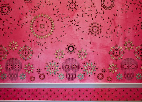 Casart coverings features 4_Wonder_Bug-covered-walls_Smithsonian-Renwick-Gallery_Jennifer_Angus_dezeen_Jennifer_Angus_on Slipcovers for your walls, casartblog