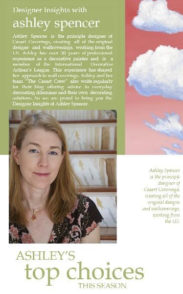 Casart coverings Designer Insights - Ashley Spencer - via Terrys Fabrics UK on Slipcovers for your walls, casartblog