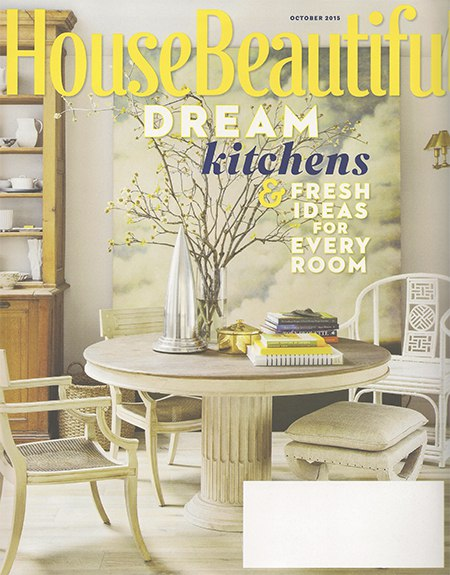 Casart coverings features clouds on the over of House Beautiful, as seen on Slipcovers for your walls, casartblog