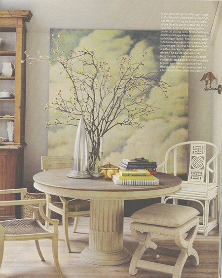 Casart coverings features House Beautiful Benjamin Dhong Cloud interior on Slipcovers for your walls, casartblog