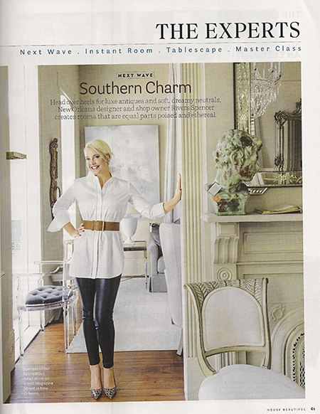 Casart coverings features House Beautiful mention of Rivers Spencer NOLA shop on Slipcovers for your walls, casartblog