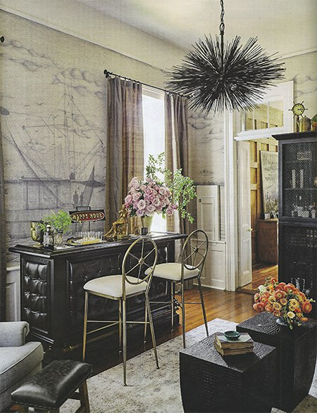 Casart coverings features Ken Fulk's custom wallpaper in House Beautiful, on Slipcovers for your walls, casartblog