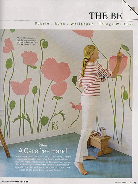 Casart coverings features HB hand-painted flowers1 on Slipcovers for your walls, casartblog