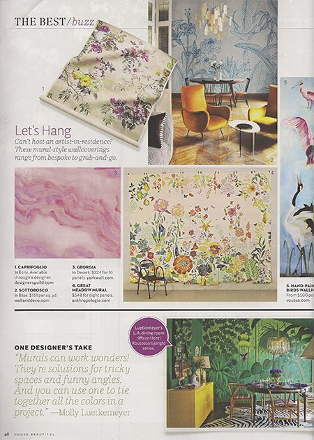 Casart coverings features HB hand-painted murals_wallpaper on Slipcovers for your walls, casartblog