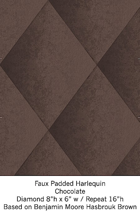 Casart coverings Chocolate Harlequin temporary wallpaper on Slipcovers for your walls, casartblog