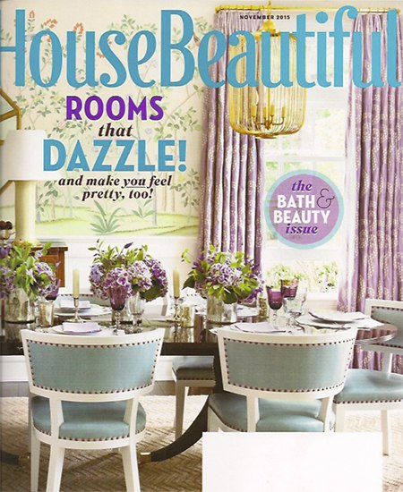 Casart coverings features House Beautiful November cover on Slipcovers for your walls, casartblog