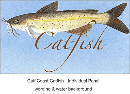 Casart Coverings_Catfish panel panel for Gulf Coast Recovery temporary wallpaper panel_casartblog on Slipcovers for your walls