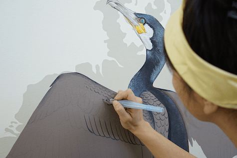 Cormorant in progress_casartblog