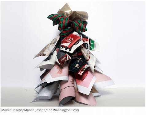 Christmas catalog tree via Washington Post on Slipcovers for your walls, casartblog