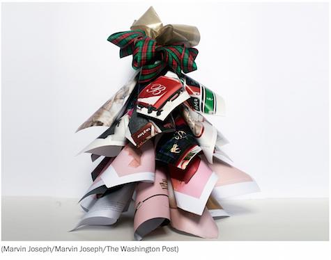 Christmas catalog tree via Washington Post on Slipcovers for your walls, casartblog