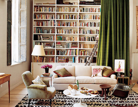 Bookcase curtain cover_casartblog