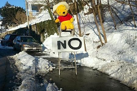 Teddy Bear Parking Space Saver on casartblog