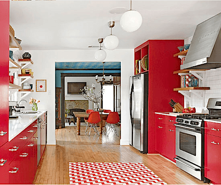 Red kitchen cabinets_casartblog