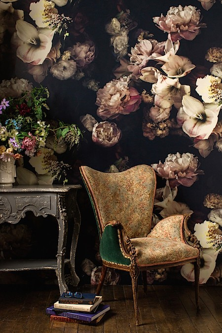 Casart coverings features Ashley Woodson Bailey Floral Wallpaper via Cup of Joe_casartblog