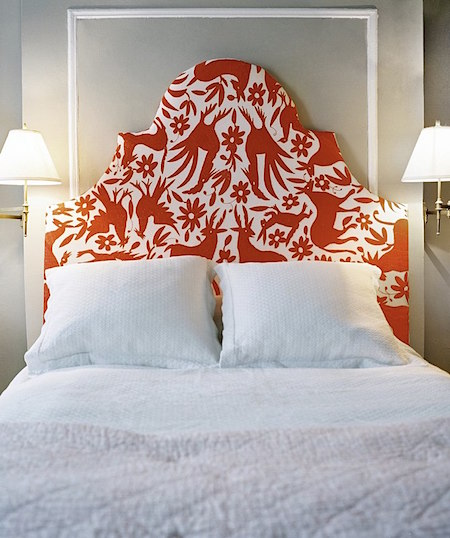 red fabric pattern headboard_casartblog