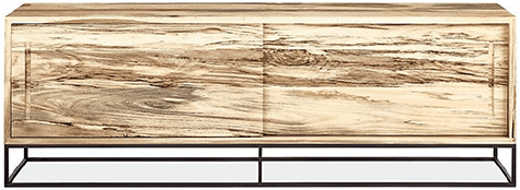 Room and Board_Spalted Sugarberry Wood cabinet