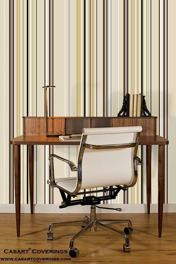 Casart coverings Stripes temporary wallpaper Work station_casartblog