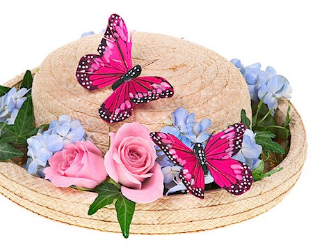 Easter Bonnet hat with butterfly_casartblog