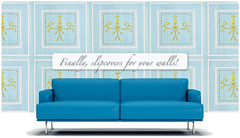 Casart coverings Archtectural Panels_temporary wallpaper with sofa_casartblog
