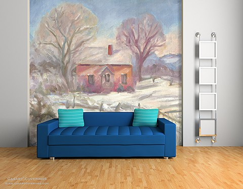 Casart Coverings Winter House_ temporary wallpaper_ Katherine Collection Room View_casartblog