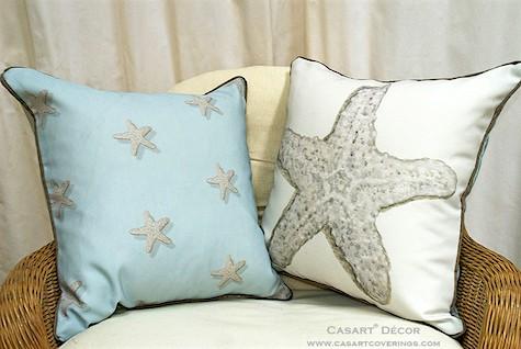 Casart coverings Decor Starfish-reversible pillowcover_casartblog