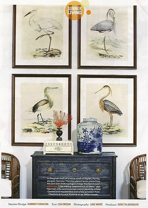 Summer Thornton uses heron prints to make a visual statement_casartblog