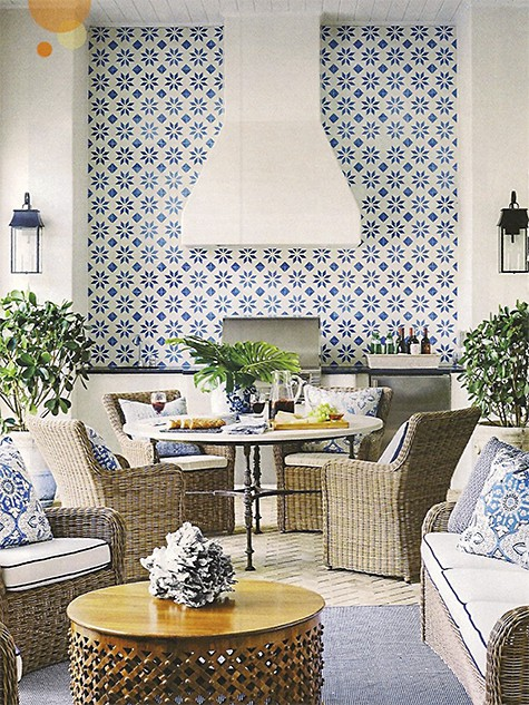 Summer Thornton uses patterned tile feature wall to make a visual statement_casartblog