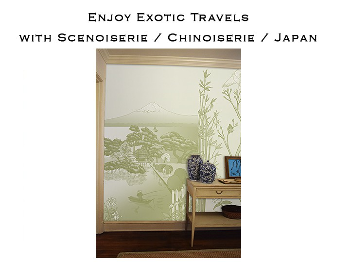 Casart Coverings Japan landscape art removable wallpaper, temporary, repositionable, reusable wallcovering