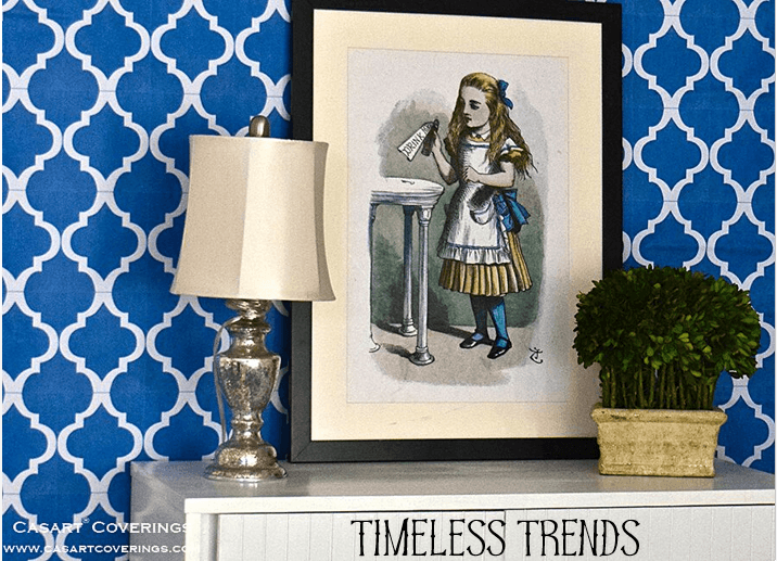 Casart Coverings_Timeless Trends_MoRockAnSoul_Blue Arch removable wallpaper_casartblog