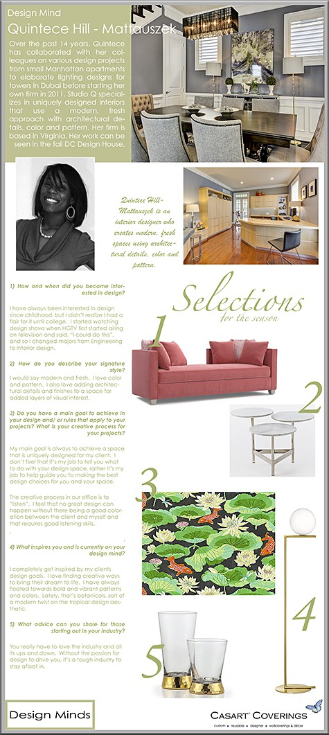 Casart Coverings features Studio Q_Quintece Hill Design Mind on Slipcovers for your walls, casartblog