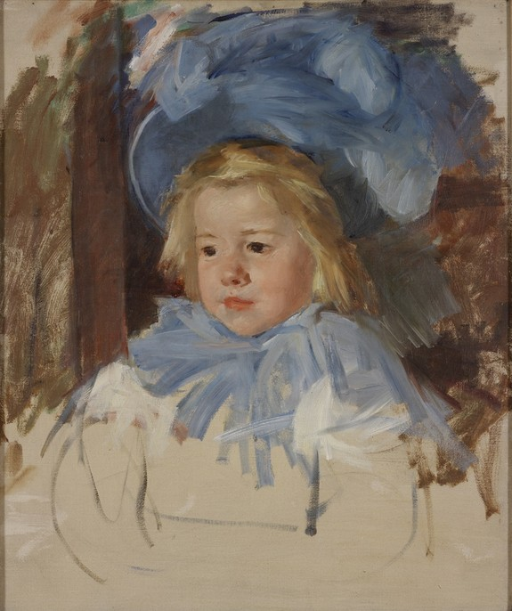 Mary Cassatt Simone in Blue Painting via RISD Museum_casartblog