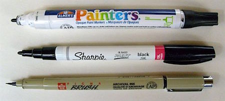 variety of paint pens via Painting Rock_casartblog