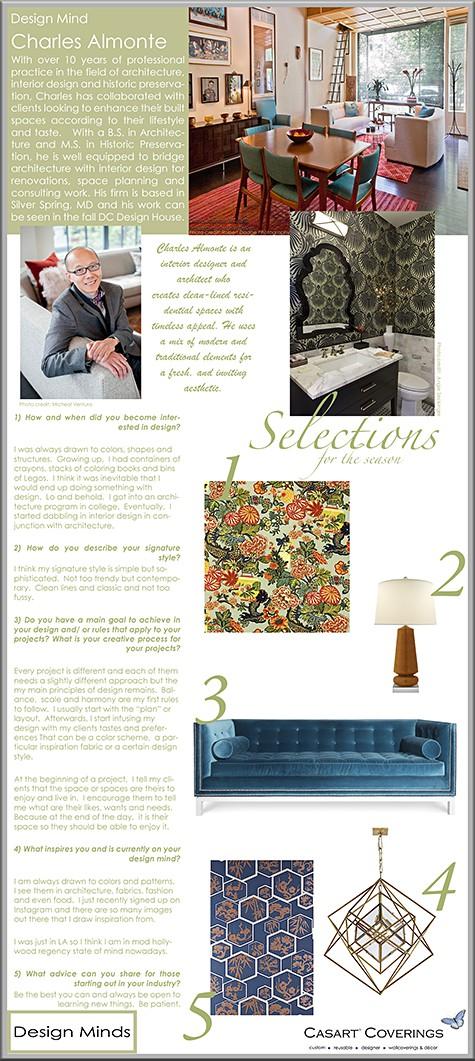 Casart Coverings features Design Mind_Charles Almonte_casartblog