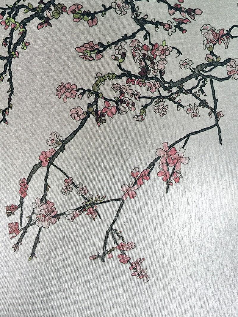 Silver Casart Luster metallic removable wallpaper_casartblog