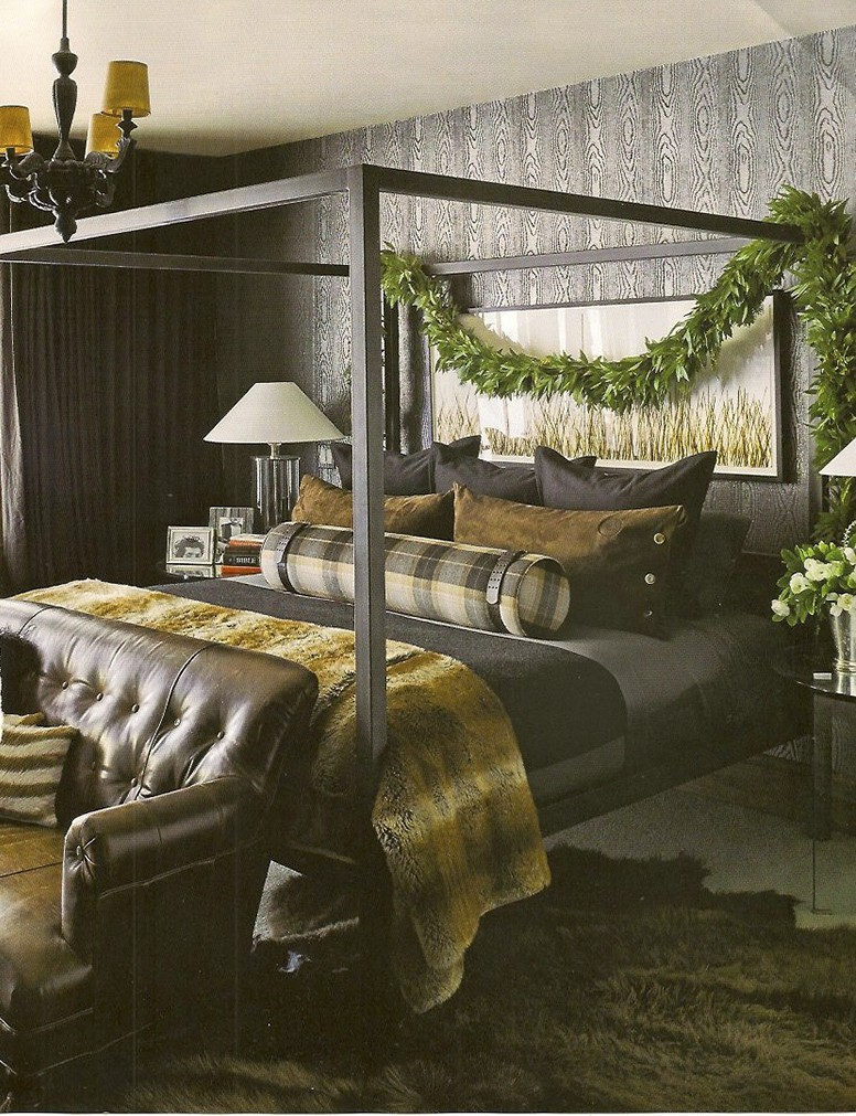 Ken Fulks Christmas cabin via Elle Decor_casartblog