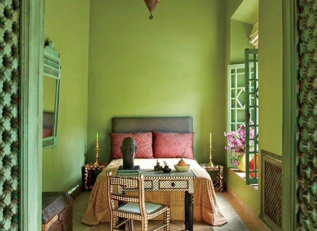 Architectural Digest- Green Room_Casart Coverings Much About Green_casartblog