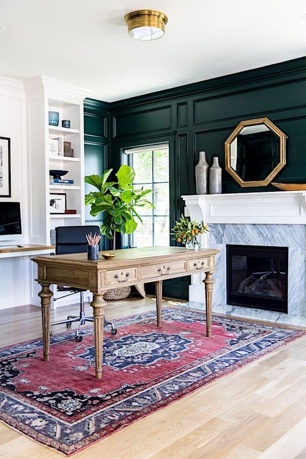 Dark Green room via Studio McGee_casartblog