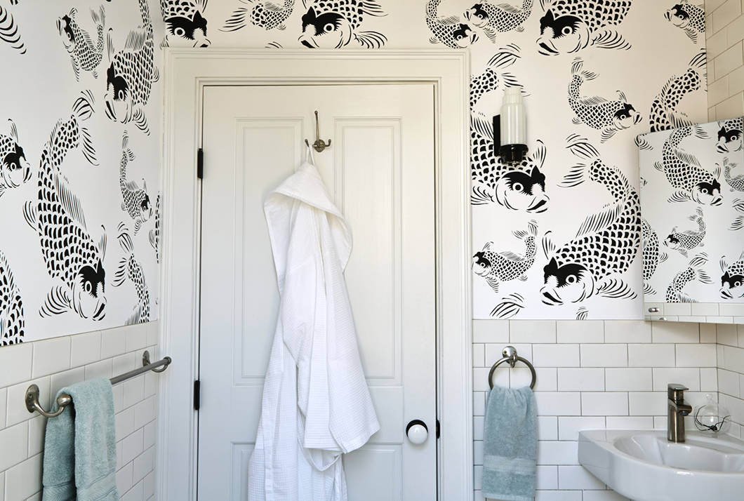 Koi fish POZdesigns Pattern Bathroom_Casart Coverings temporary wallpaper