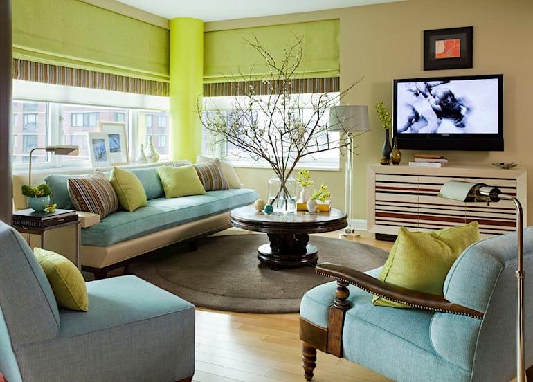 Blue and green room on casartblog
