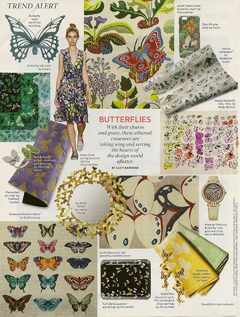 Elle Decor Butterflies on casartblog
