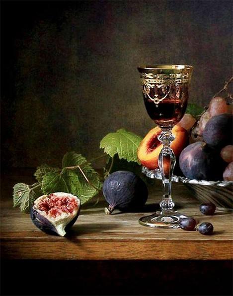 Fruit still life painting on casartblog