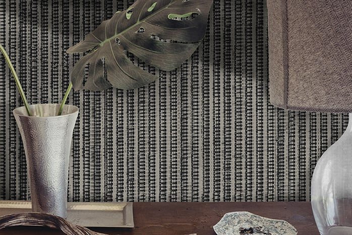 Casart Coverings Warm Gray Grasscloth with neutral accents on casartblog