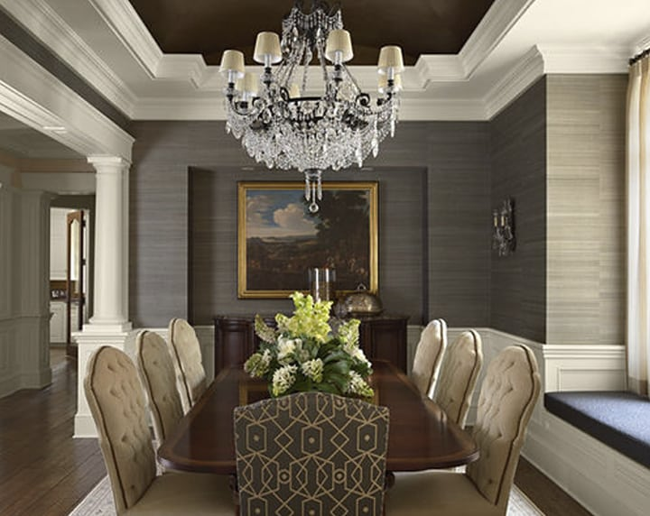 Traditional Grasscloth Dining Room via Twist Interior Design on Houzz