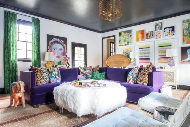 Apartment therapy purple room on casartblog